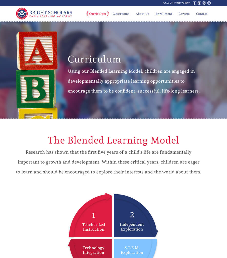 bright scholars website redesign