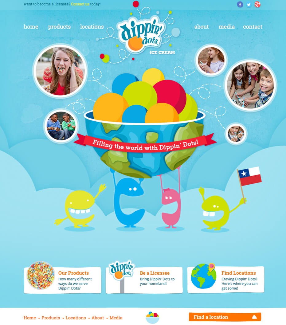 Dippin dots website redesign