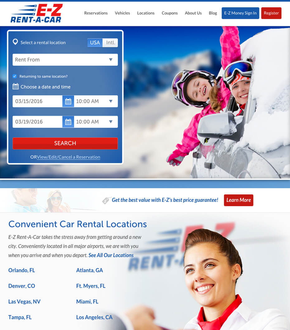 Best car rental website