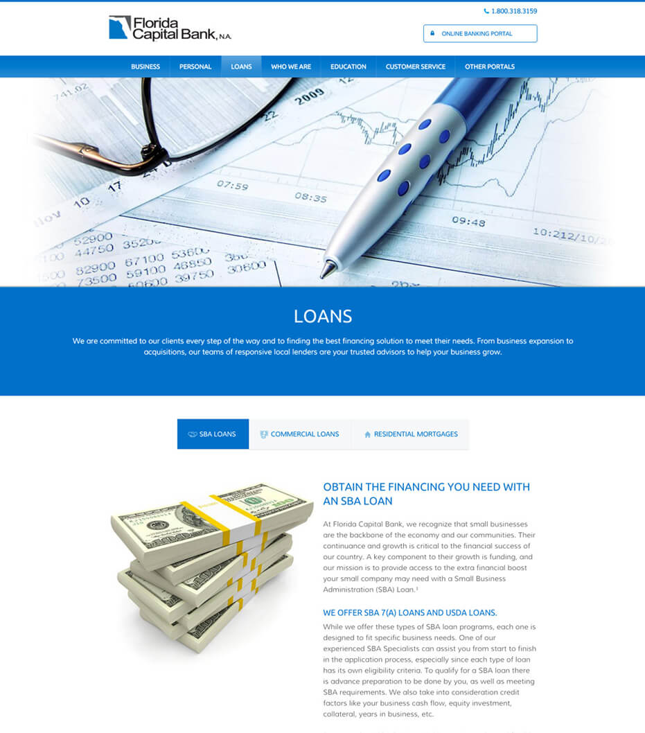 mobile banking web design
