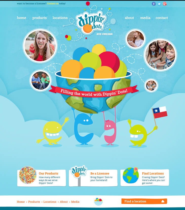 Redesigned dippin dots website
