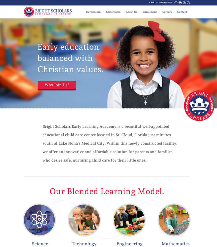 redesigned bright scholars website