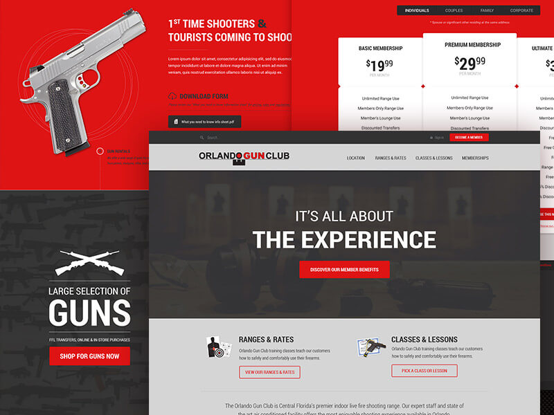 Orlando gun club website design