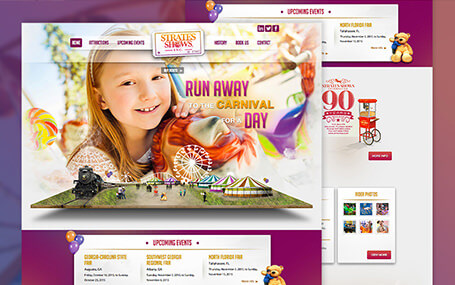 website redesign for carnival