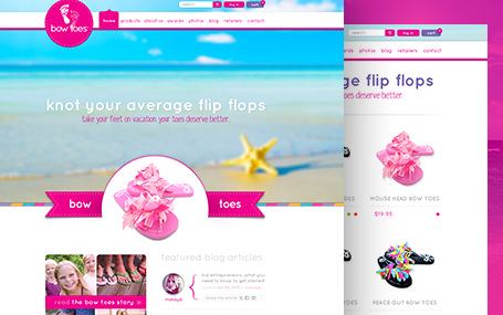 E-Commerce website design for BowToes