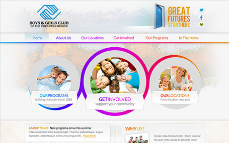 Boys & Girls Club of Pikes Peak website redesign
