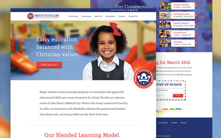 Childcare branding and website design for Bright Scholars