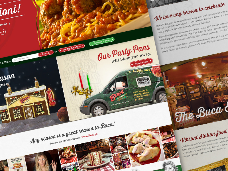 Buca di beppo website redesign