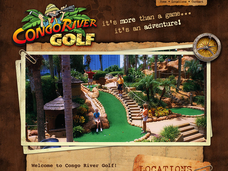 Website redesign for Congo River Golf