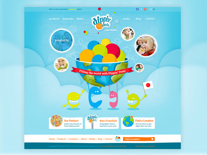 Website redesign for Dippin' Dots International