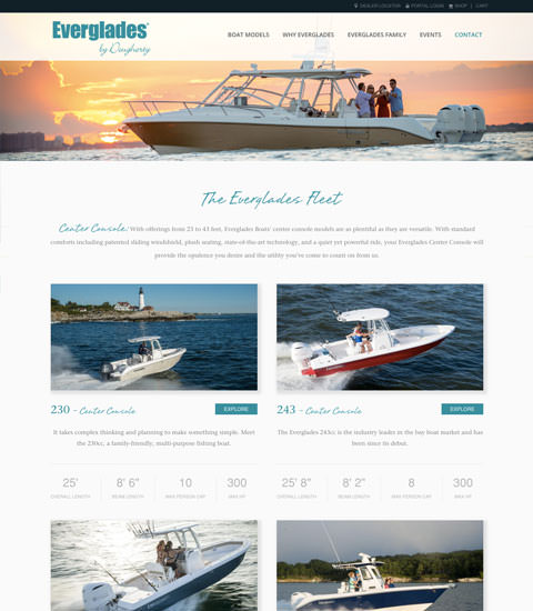 Everglades boat selection