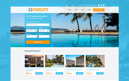 Fidelity Resales timeshares website UI
