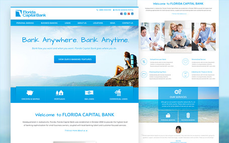 FL Capital Bank website redesign