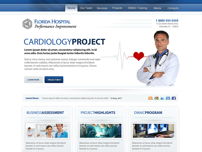 Fl Hospital Performance PI website design & development