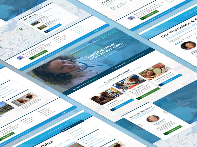 Website Redesign for a Pediatrics Company