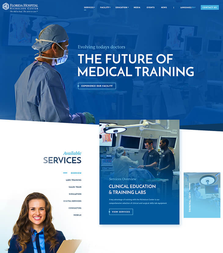 New Florida hospital website design