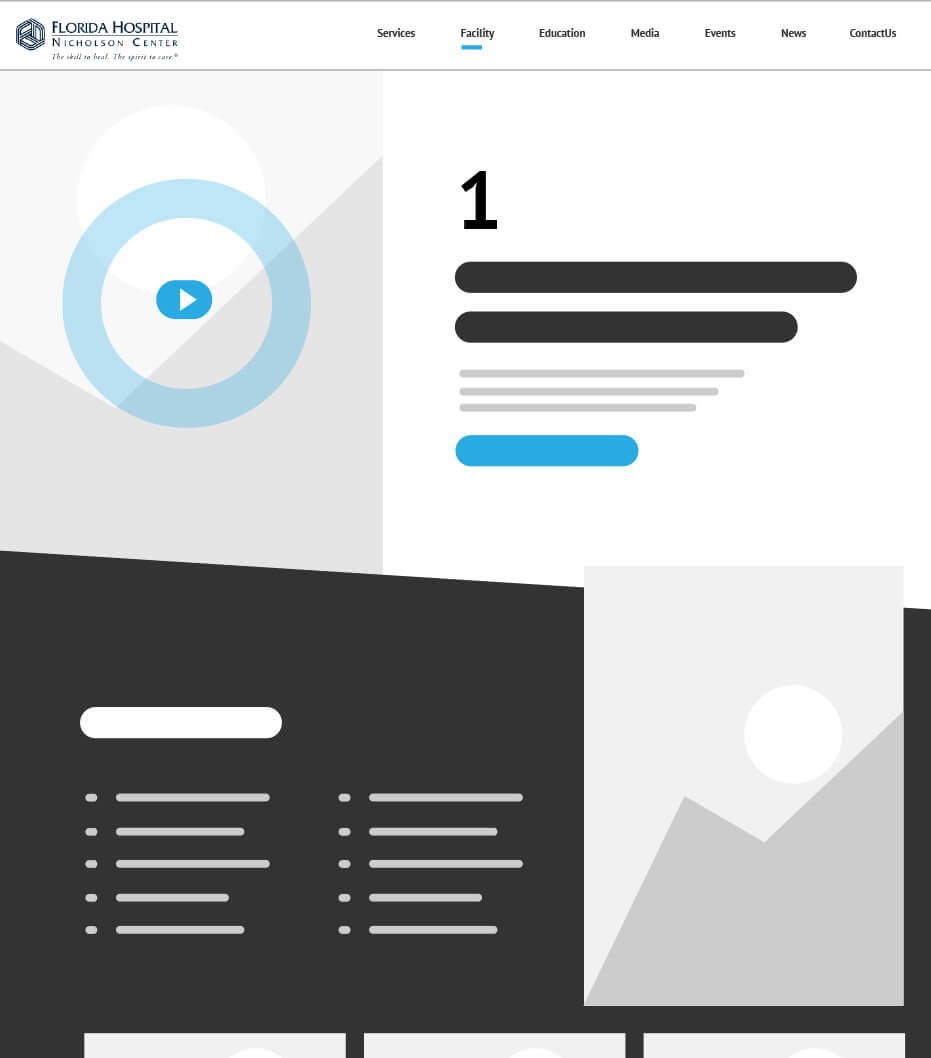 Service Page Wireframe