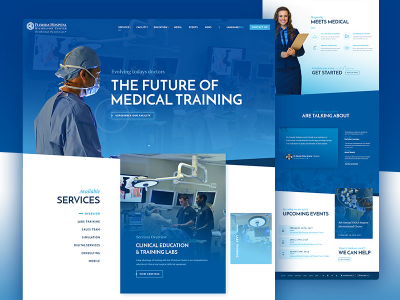 Florida Hospital website design
