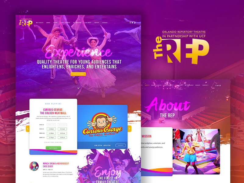 Orlando theatre web design