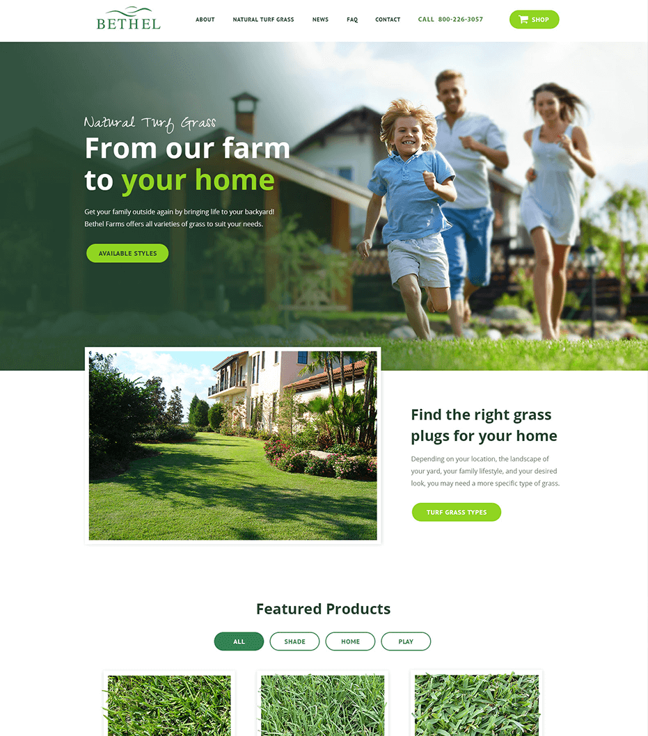Bethel Farms home page