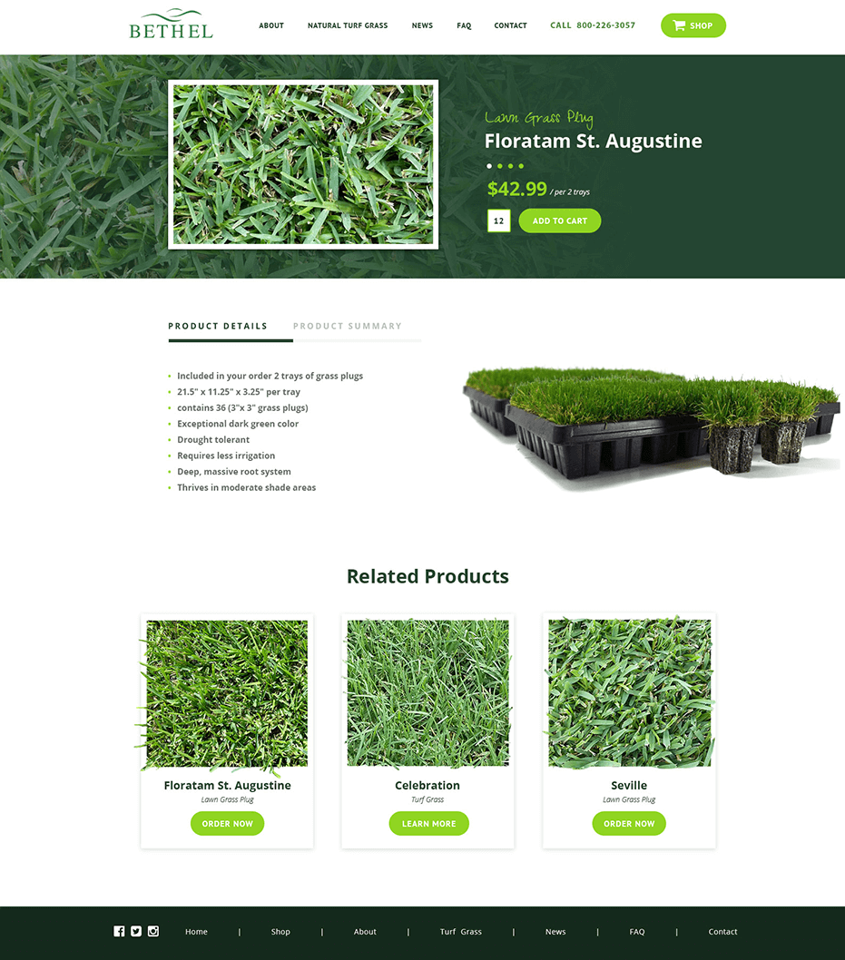 Bethel Farms single product page