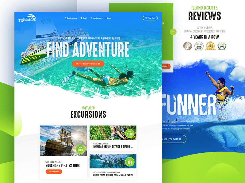 Island Routes Website Design