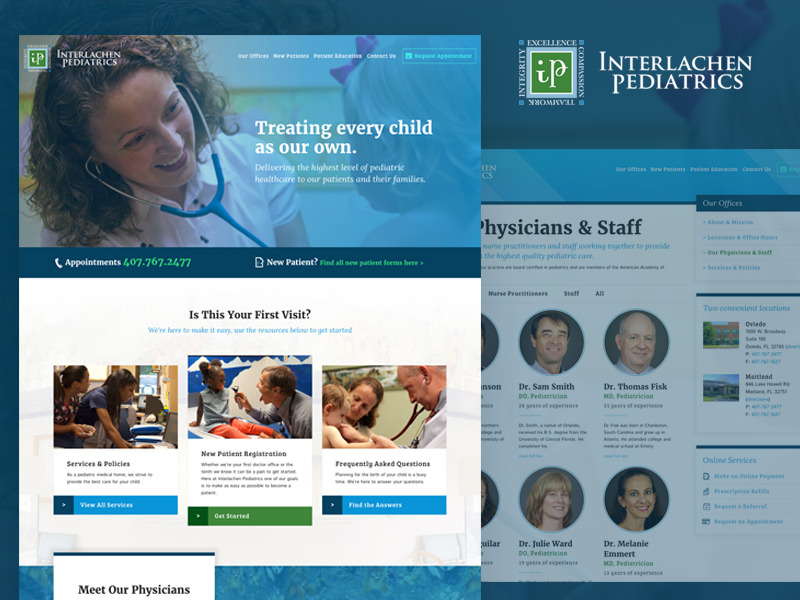 Pediatric Web Design