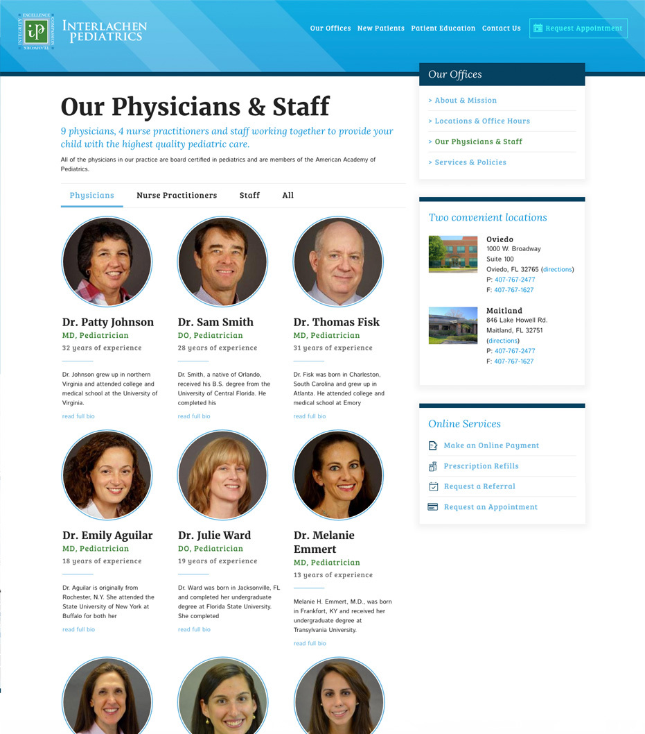 Interlachen Pediatrics Our Staff