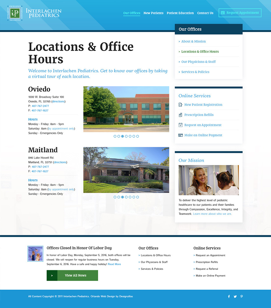 Interlachen Pediatrics Location & Office Hours