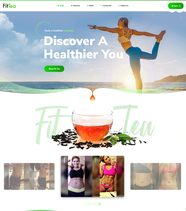 Fit Tea website redesign