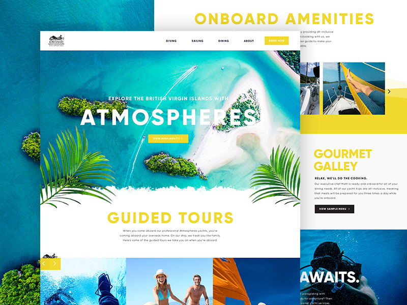 Boating website design