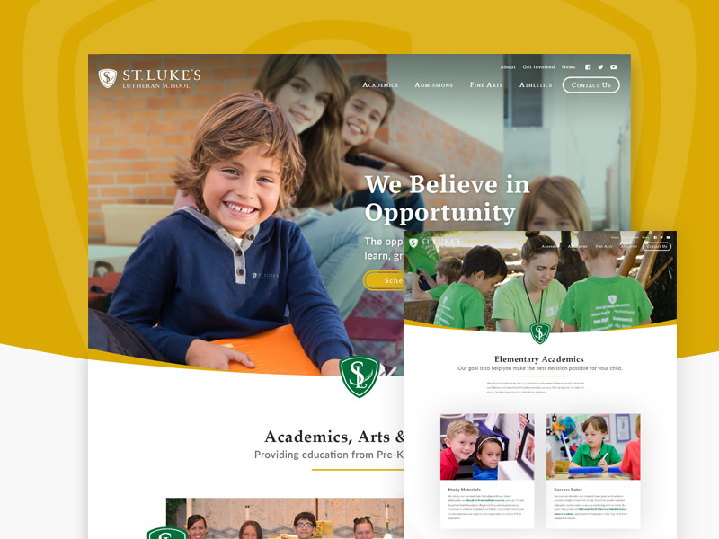Private school web design