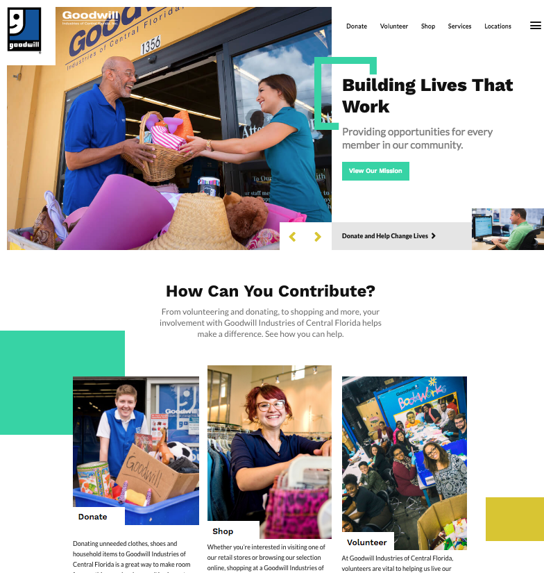Goodwill – New Responsive Website
