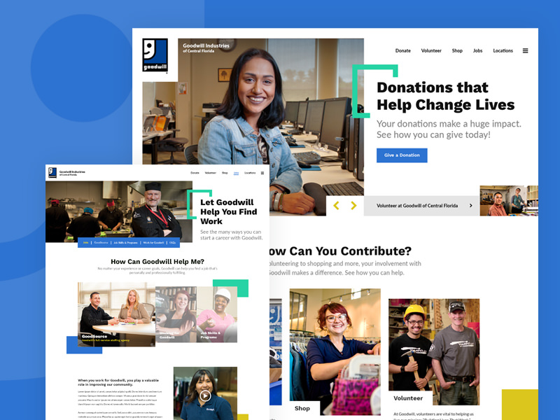 Goodwill of Central Florida Website Design
