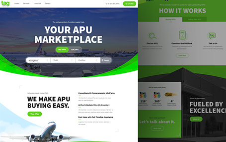 TAG Aero Web Design