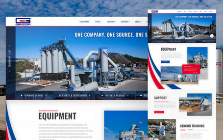Gencor Industries Website Design