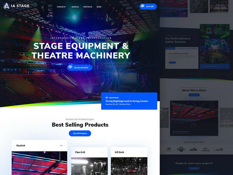 IA Stage Website Design