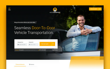 Auto Transport Website Design