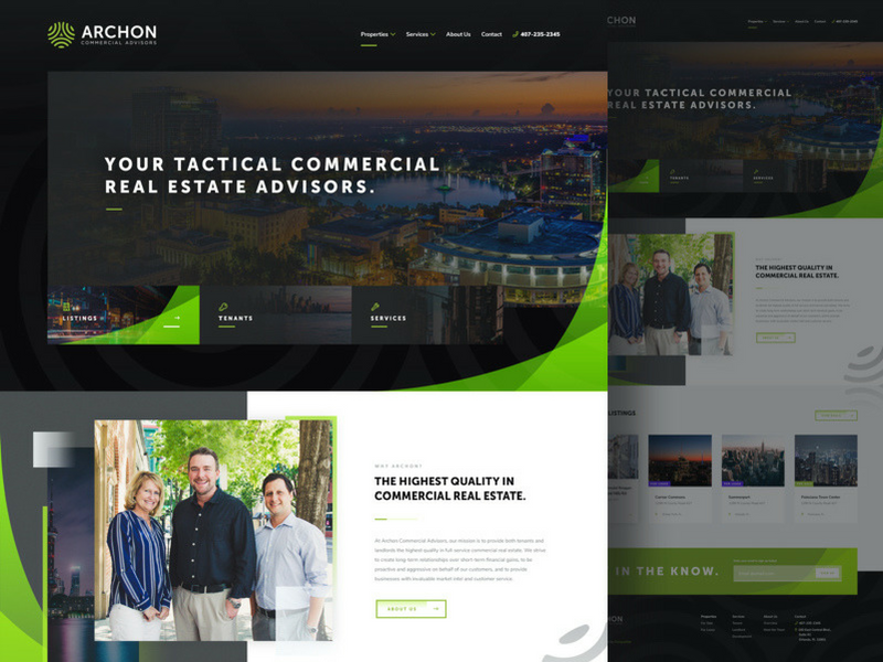Archon Commercial Advisors Website Launch