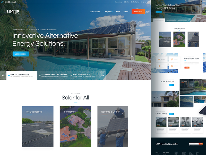 UMA Solar Website Design