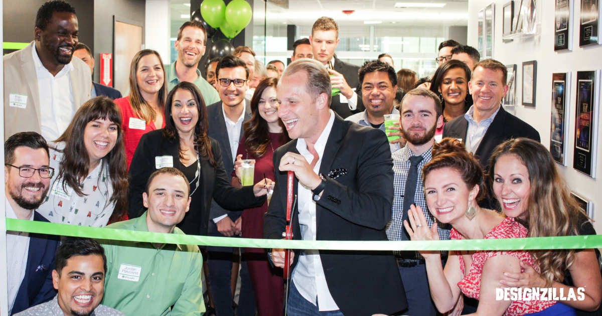 Designzillas Celebrates New Office with Ribbon-Cutting Ceremony