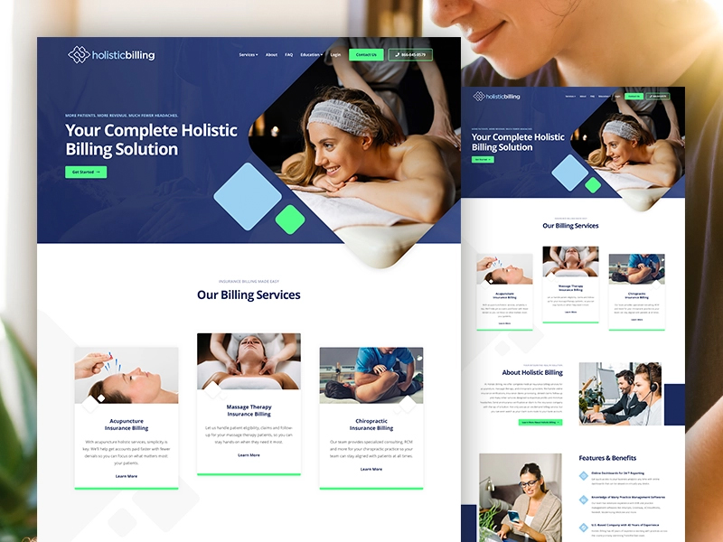 Holistic Billing Services Website Design