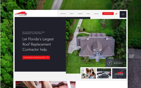 Roofclaim.com home page design