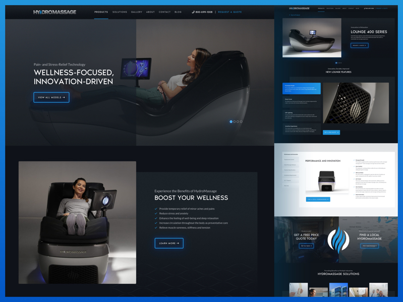 HydroMassage Website and Rebrand