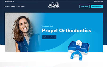 Propel Orthodontics Growth Partnership Website