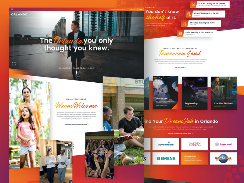 Orlando Economic Partnership Live Work Play Homepage