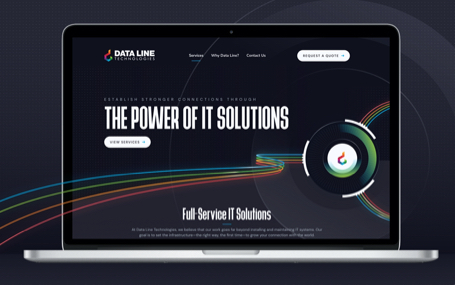 Data Line Technologies Homepage Design