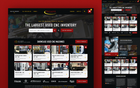 Premier Equipment Used CNC Website Design Thumbnail