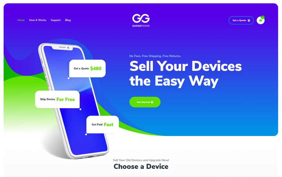 GadgetGone Website Design