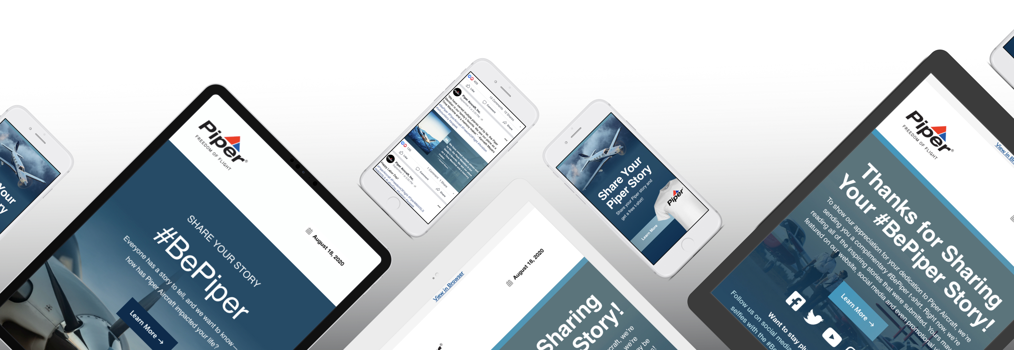 Mobile devices displaying a landing page from Orlando